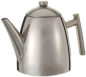 Frieling USA 18/8 Stainless Steel Primo Teapot with Infuser, 22-ounce