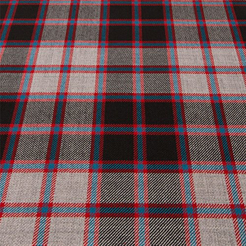 - Light Weight 10oz Fabric Material Macpherson Hunting Modern Tartan 1 Metre
