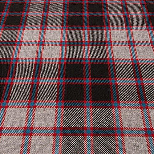 Light Weight 10oz Fabric Material Macpherson Hunting Modern Tartan 1 Metre