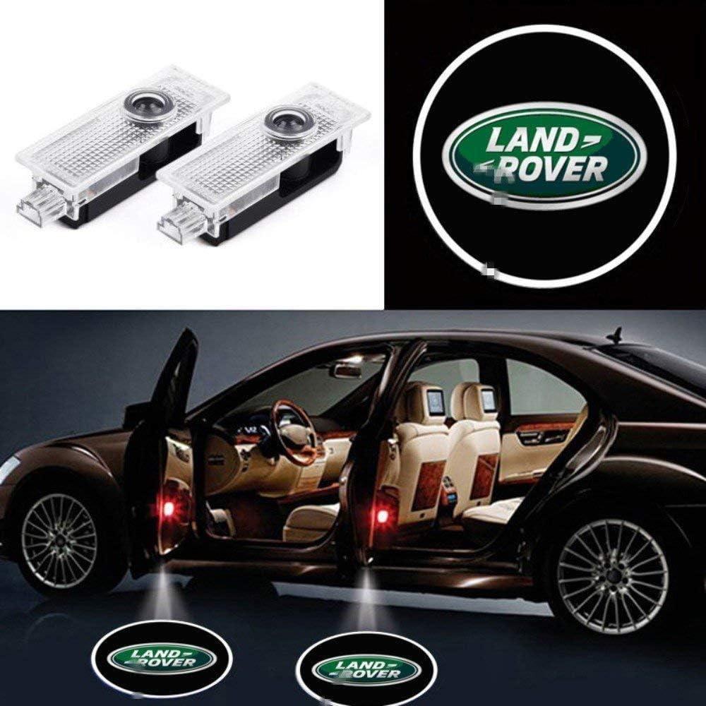 KVCH 2 piezas Luz de Bienvenida LED puerta del coche Logotipo del proyector Fantasma Sombra Luces para Evoque Discovery 4 Freelander con removedor de tapicería de puerta