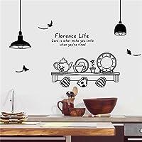 el Sabor de la Vida Florencia Pegatinas de Pared Fantasía Kettle, Tazas, Platos Inspirador Paulo Coelho Cita de Amor…