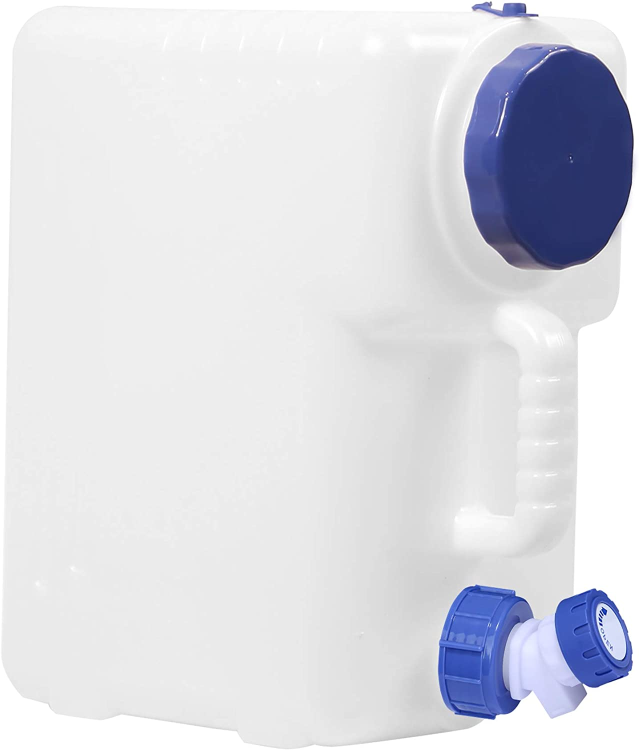 CAMPMAX Water Container with Spigot, 4/5 Gallon Portable Water Storage for Camping Outdoor Hiking Backpacking