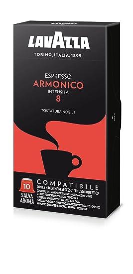 100 Cápsulas Lavazza Espresso Armonico 100% Arábica Compatible Nespresso: Amazon.es: Hogar