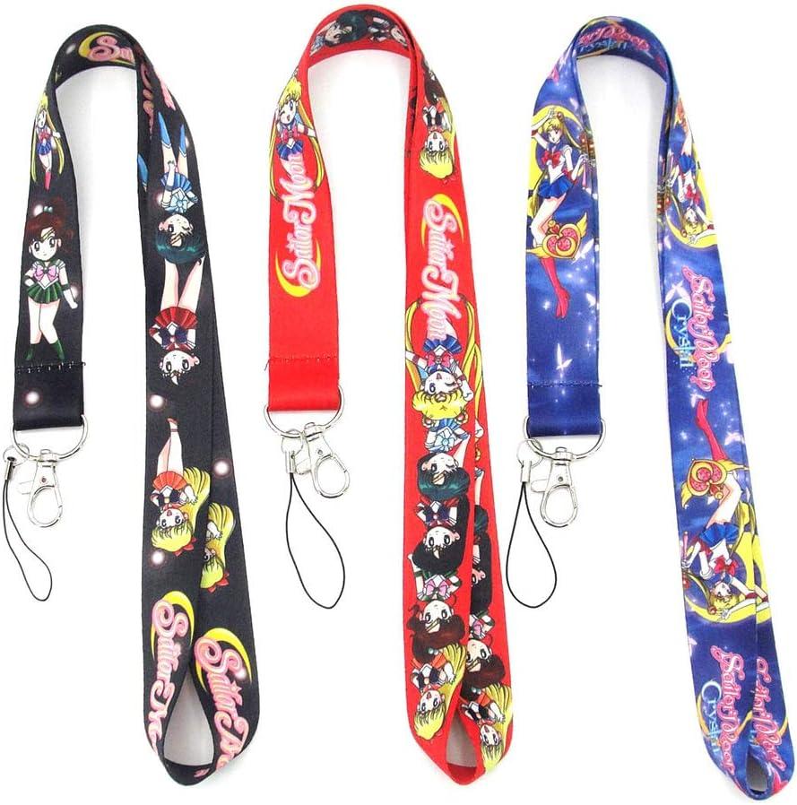 Sailor Moon Neck Straps Keyring Keychain Key Lanyard Badge ID Cards Holders