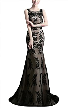 Aurora Bridal Womens Long Mermaid Prom Dresses 2018 Formal Gown Size 2 Black