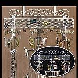 "Hanging Organizing Jewelry Valet (White) (23.4""H x 23.4""W x 2.375""D)"