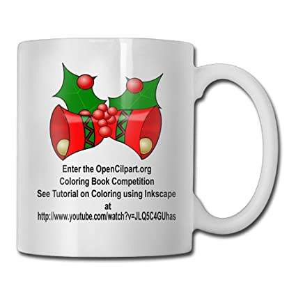roord christmas bells coloring book page funny cup 11 oz coffee mugs