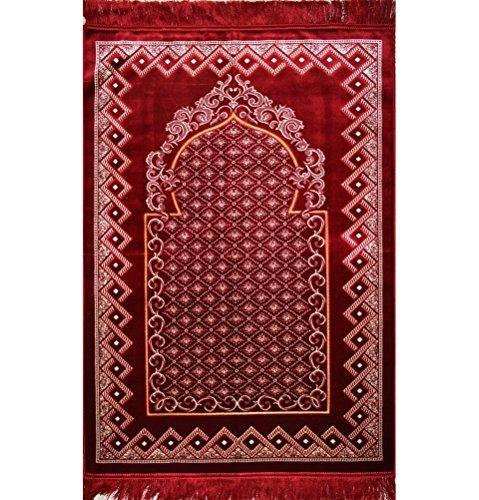 Muslim Prayer Rug Plush Adult Janamaz Islamic Namaz