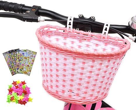 ANZOME Cesta de Bicicleta para niña, Manillar, Cesta de Bicicleta ...