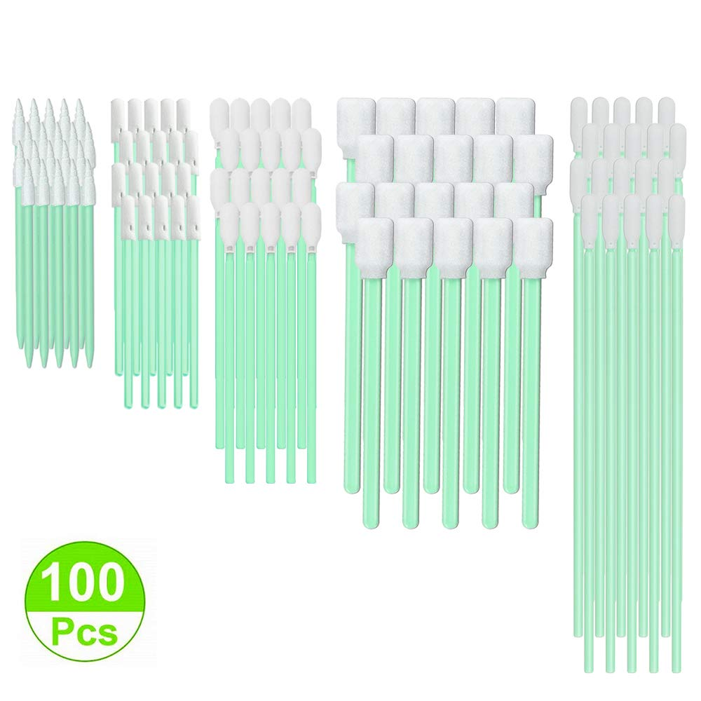 Automotive Detailing CK-FS100 Multi-Purpose Cleanroom Foam Tip Cleaning Swab Kit for Camera Optical Lens Gun Painting Printer Arts and Crafts
