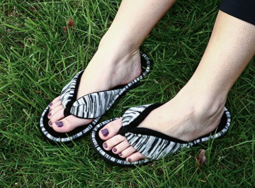 16d779f3cbe2a RockDove Women s Open Toe Memory Foam Flip Flop Slippers