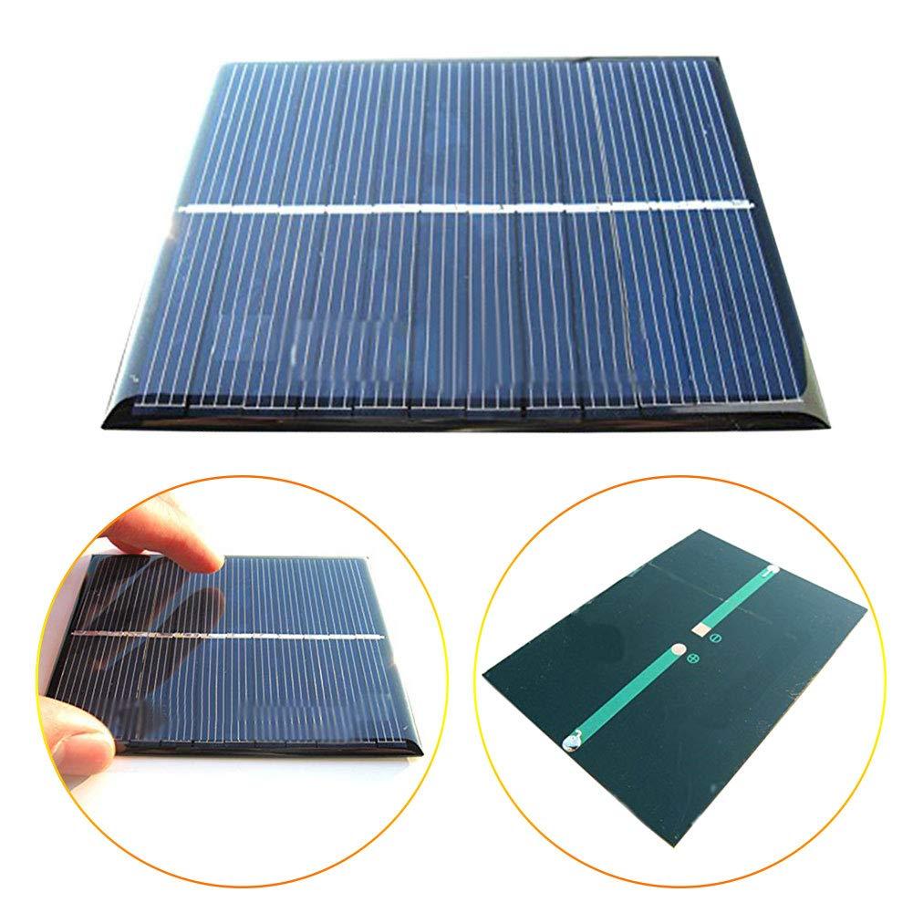 Xatan Mini Solar Panel Solarmodul DIY Batterie Solarzelle Ladeger/ät zur Aufladung in Verschiedenen Mustern 6V//3W//500mA 6V//1.1W//200mA