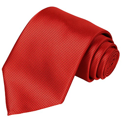 KissTies Red Tie Solid Pure Color Ties Mens Necktie