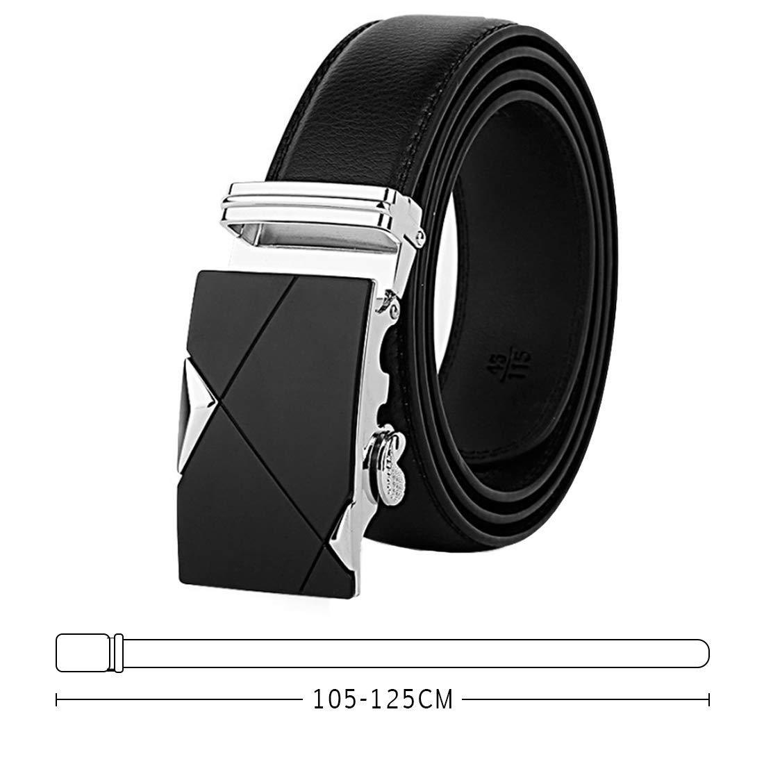 Aiweijia Mens leather belt Automatic alloy buckle belt Quick-Release man belt