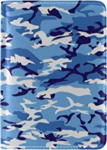 Stylish Cool Camouflage Shark Travel Passport Covers Holder Case Protector Custom