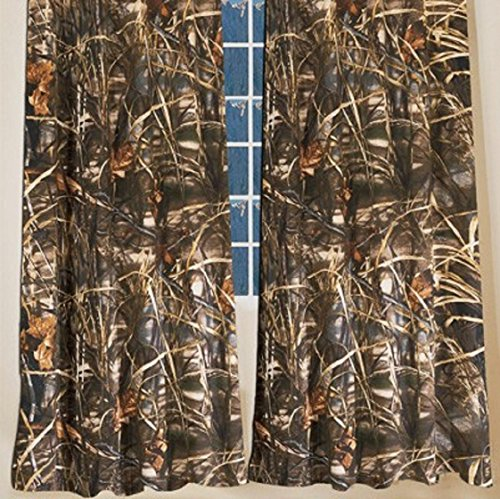 Licensed Realtree Max-4 Camouflage Pattern Curtains