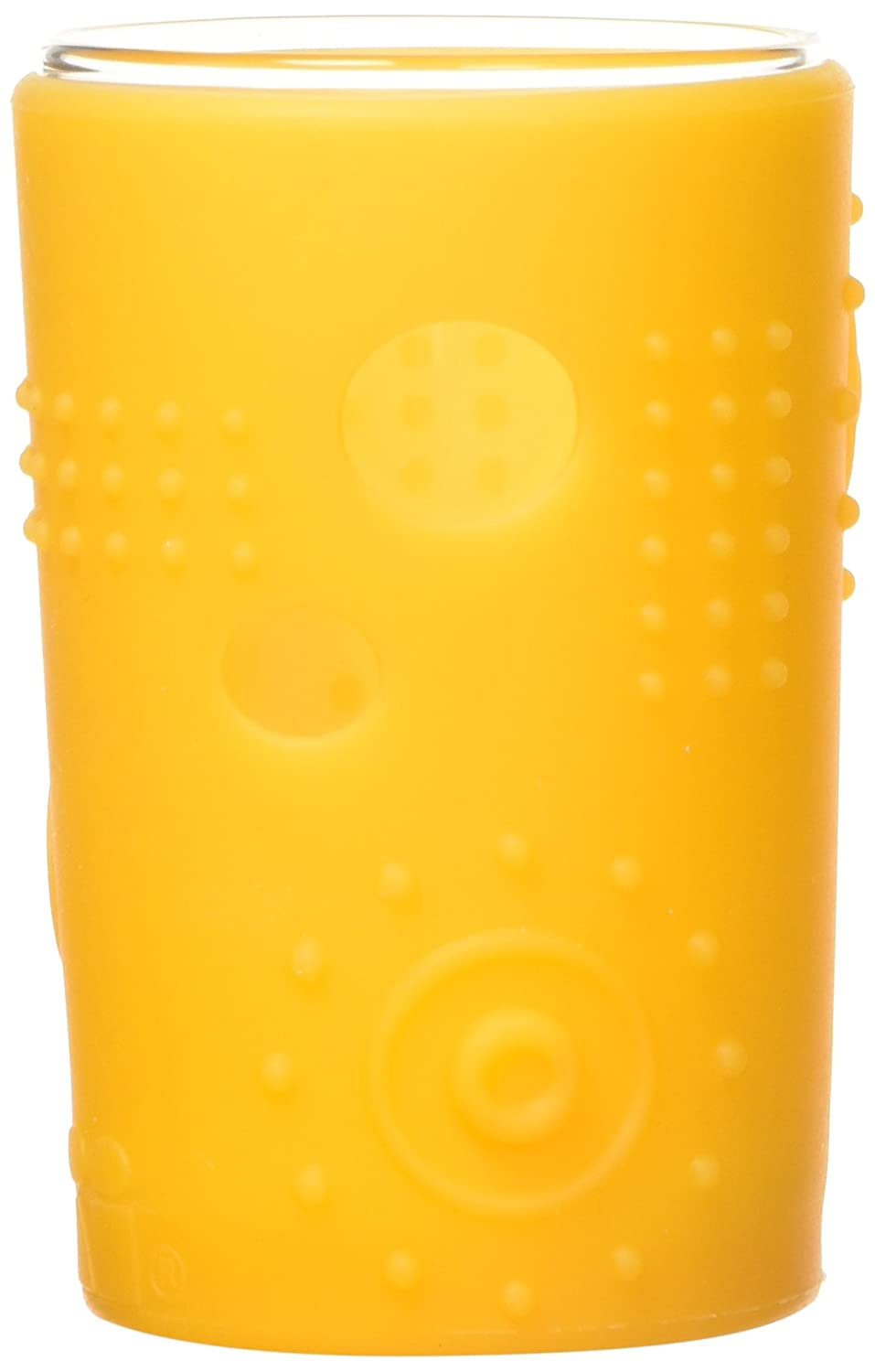 Silikids Siliskin Glass Cup with Silicone Sleeve, Sea, 24 Months, 2 Count SSHD02