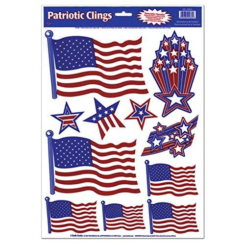 Beistle Patriotic Window Clings