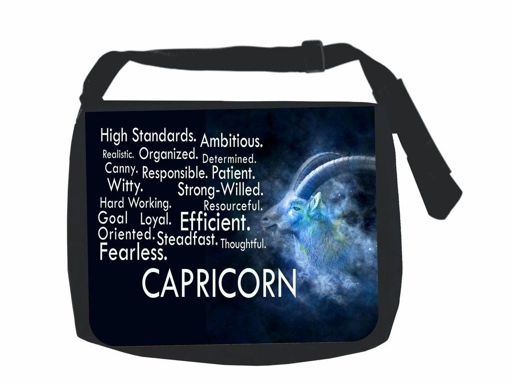 Zodiac Capricorn Traits Jacks Outlet Inc School Messenger Bag and Pencil Case Set
