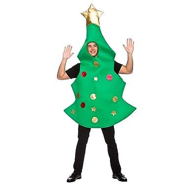 6c5450246c21 Adult Unisex Christmas Tree Party New Fancy Dress Costume Mens Ladies:  Amazon.co.uk: Clothing