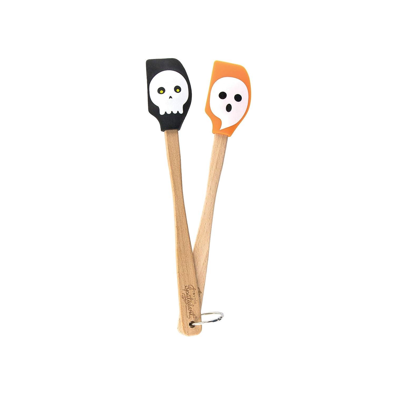 Tovolo Spatulart Mini Spatulas, Ghost & Skull, Heat Resistant, Dishwasher Safe - Set of 2