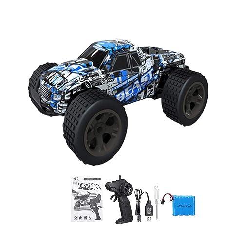 Waroomss Coche de RC, coche teledirigido 1/20, vehículo de Monster truck eléctrico