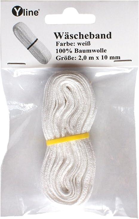 Nahtband Baumwolle Baumwollband 100 Meter Köperband 10 mm Breit Rohweiss