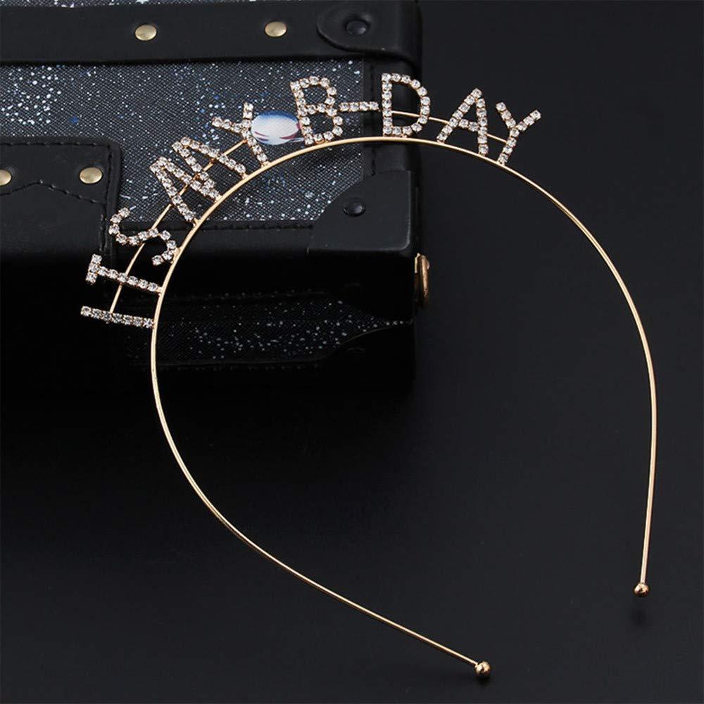 Girls Metal Hair Hoop Headwear Headdress Princess Party Hat Hair Band monochef Rose Gold Crystal Headband Cat Ear