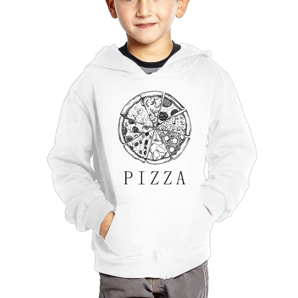 Small Hoodie Delicious Pizza Boys Casual Soft Comfortable Sweatshirts Kangaroo Pocket Hoodies