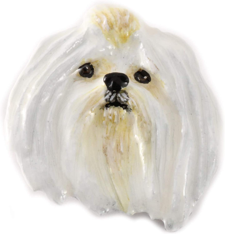 D120PR Maltese Dog Pewter Lapel Pin Jewelry Brooch
