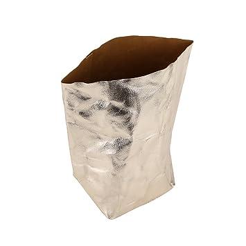ba01f1381edf Zerodis Sac Papier Kraft Lavable Doré Fleurs Pots Muti-Fonction Paniers  Organisateur Rangement DIY Poche