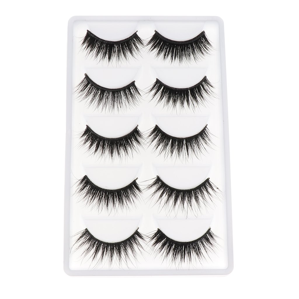 5 Pairs Black Fake Eyelashes for 12 Inch Blythe Neo Doll DIY Making & Repair Generic
