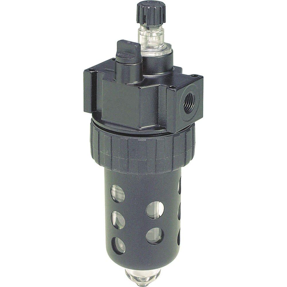 Polycarbonate Bowl//Metal Guard//No Drain Parker Hannifin 06L32BE Series 06L Prep-Air II Zinc Compact Mist Lubricator with Fill Plug 1//2 NPT Port Size