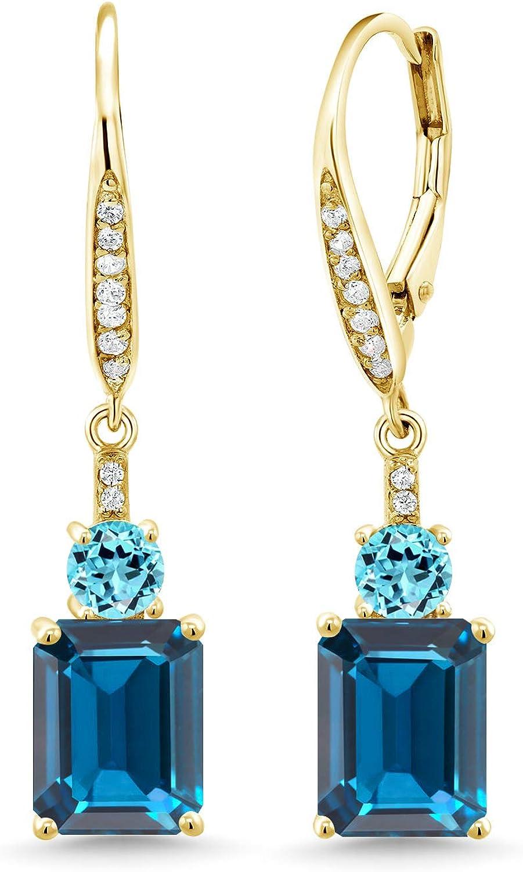 DV Jewels Blue Topaz Dangle Earring