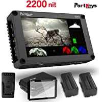 PortKeys BM5 5.2 Inch Ultra Bright 2200nit 3G SDI/4K HDMI Touch Screen DSLR Camera Field Monitor with 3D LUT,Wavaform,Camera Control Functions,On-Portable Small Monitor
