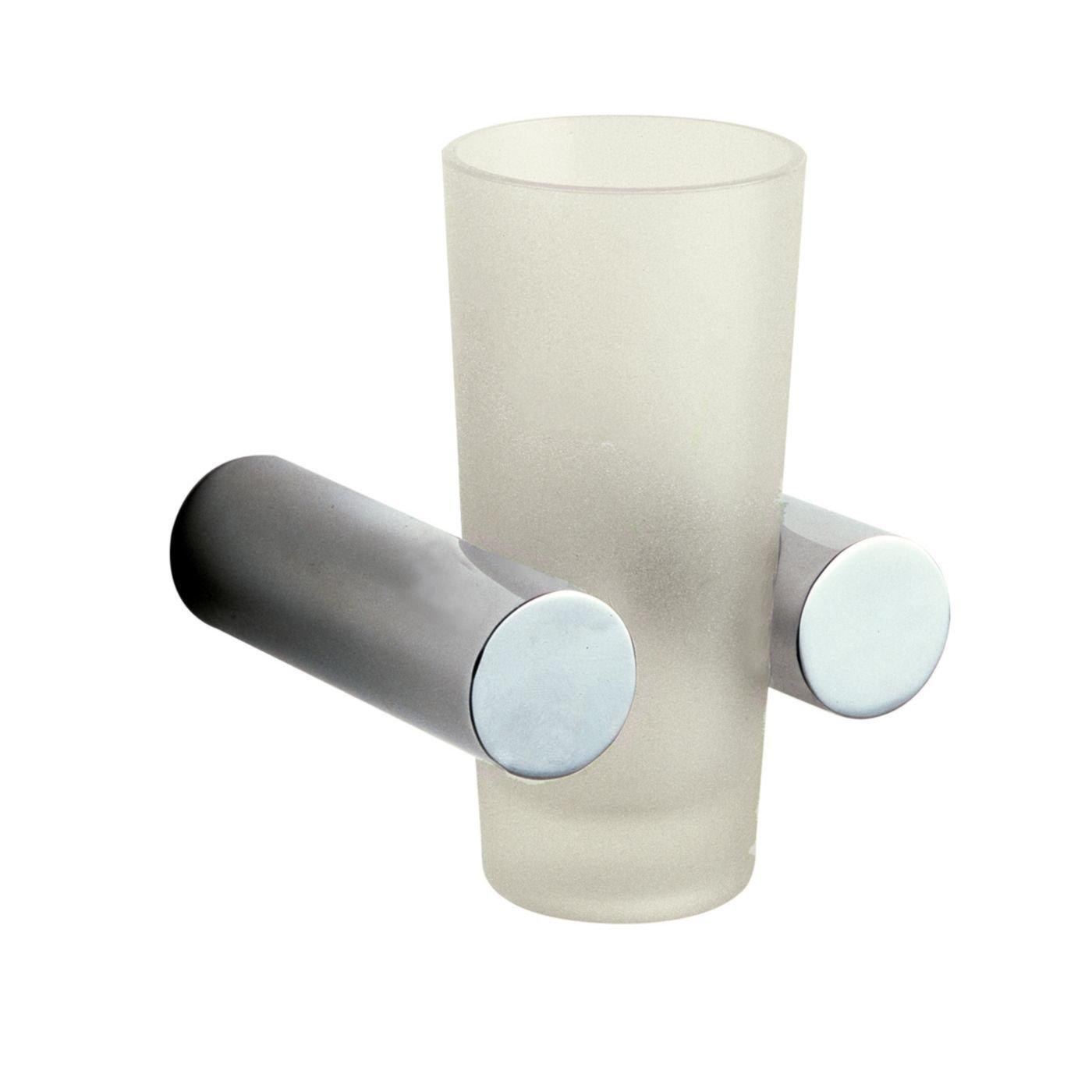 Hudson Reed Minimalist Bathroom Tumbler Holder Attractive Chrome Finish Accessory Stylish Modern Toothbrush Cup