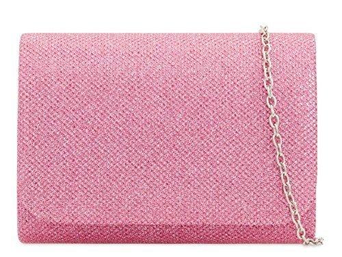 pochette main Rose pour Small 'S Brillant soirée femmes marine Sac mariage chaîne bal à haute Paillettes NEUF DIVA lanière Bleu OwqwHBd6