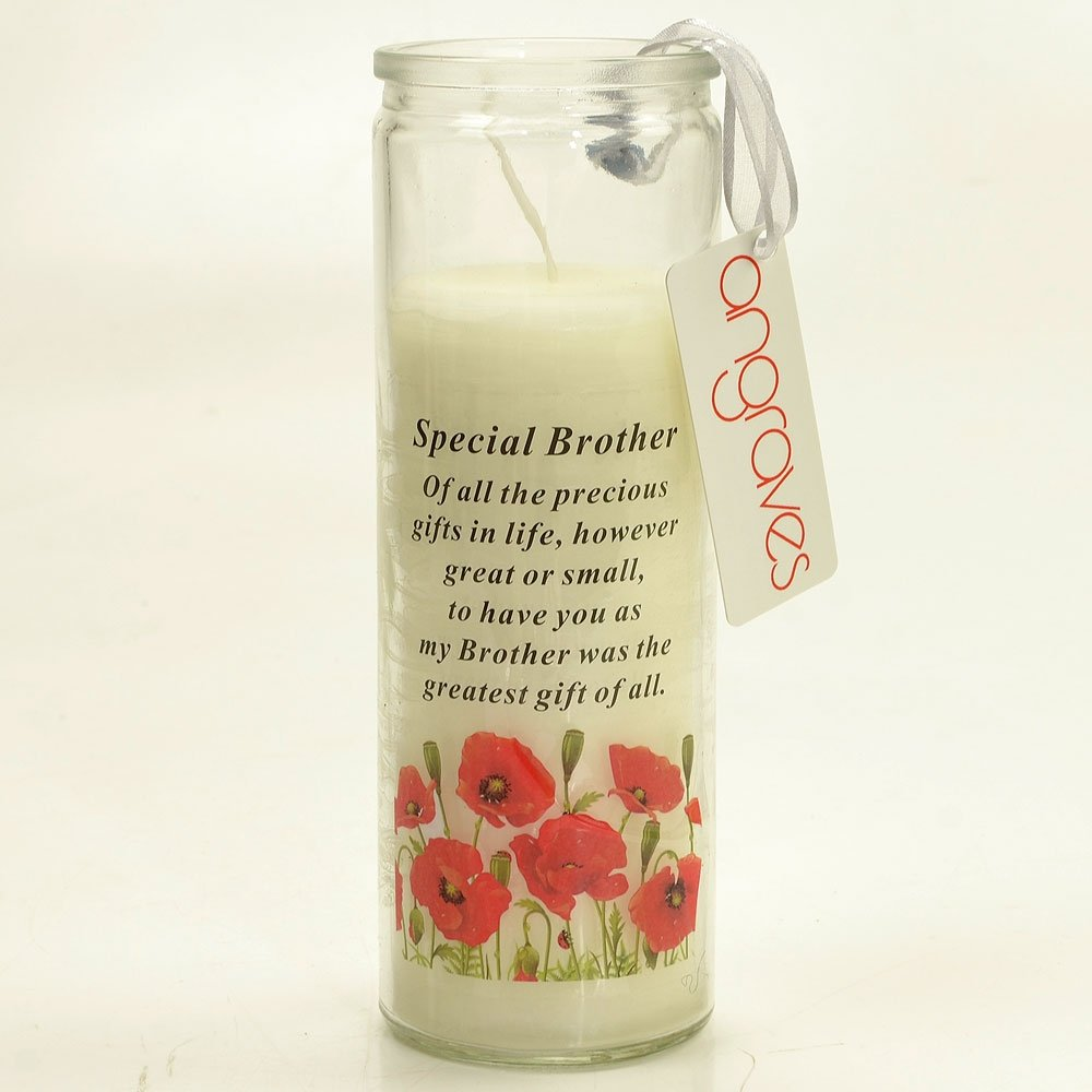 Angraves Special Brother Memorial Candle with Verse
