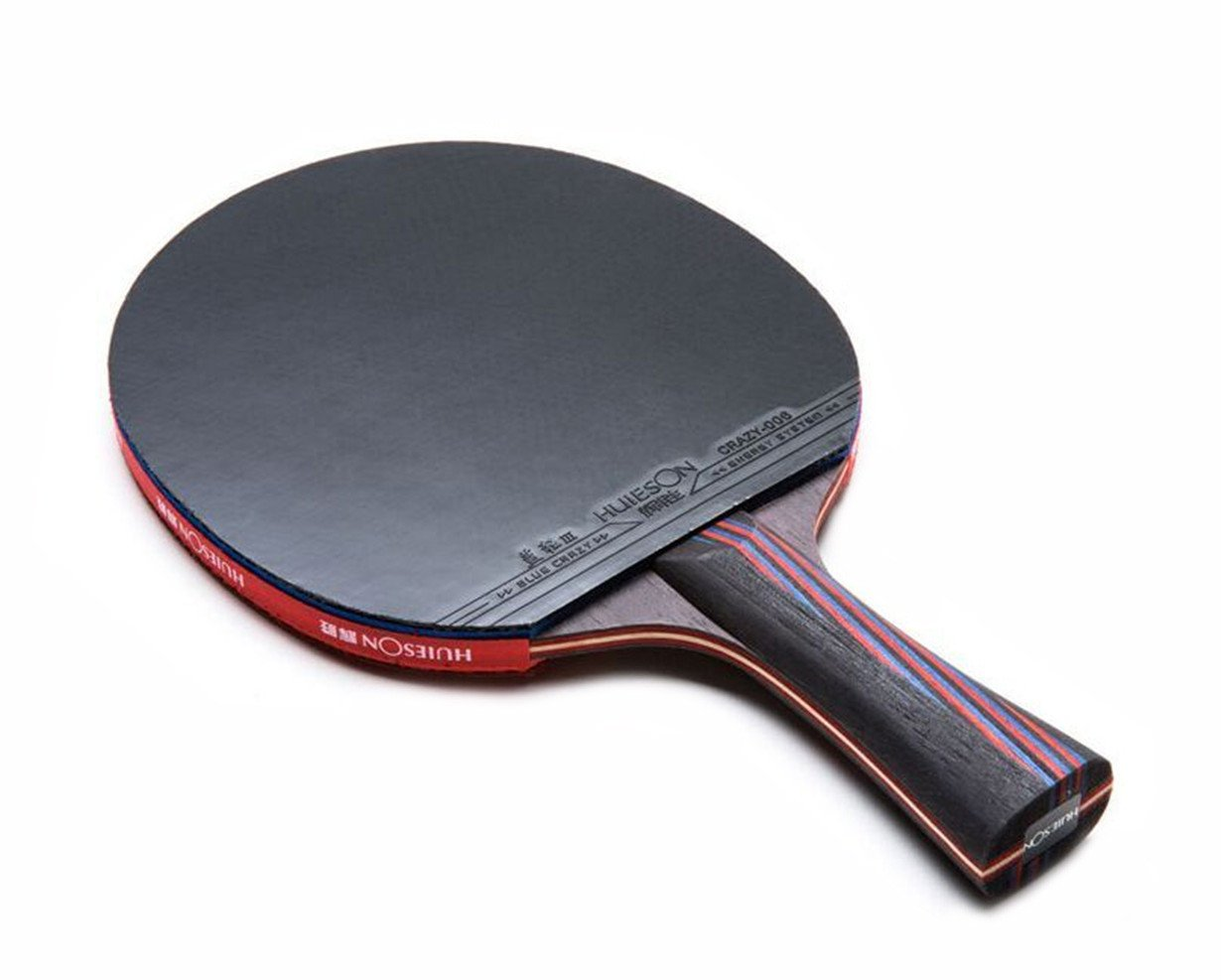 Amazon.com : LANFIRE(huieson) Table Tennis Rackets red and Black Carbon Wang Bottom Blue Sponge Table Tennis Paddle (Long) : Sports & Outdoors