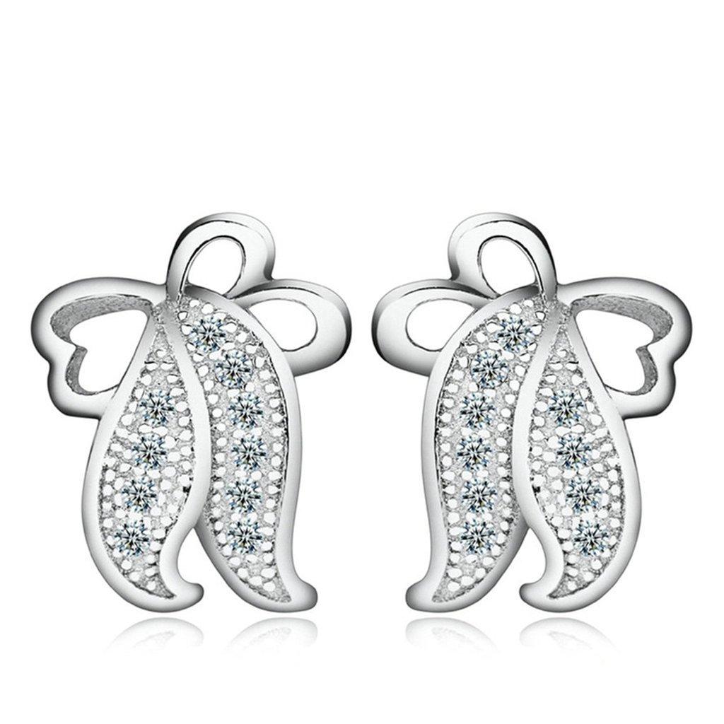 AmDxD Jewelry Silver Plated Women Stud Earrings Jellyfish Silver