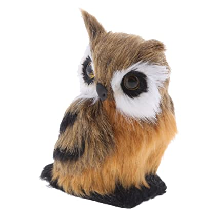 Amazon Com Fityle Cute Realistic Animal Owl Plush Toy Soft Gifts