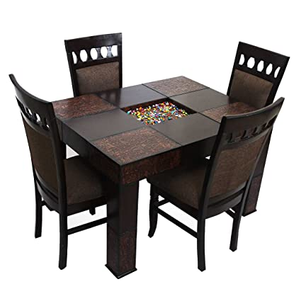 Look In Furniture Engineered Wood Dining Table with 4 Chairs ...