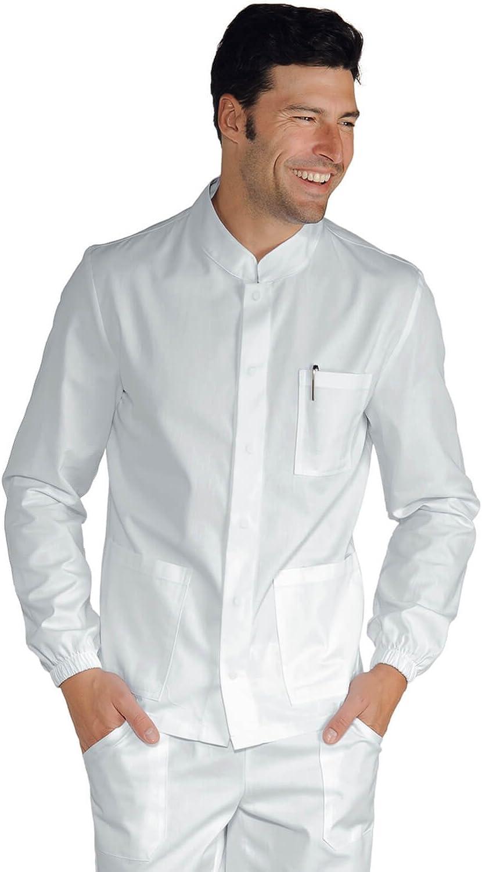 100/% Cotone Isacco Camice Dentista Bianco Bianco XS Manica Lunga