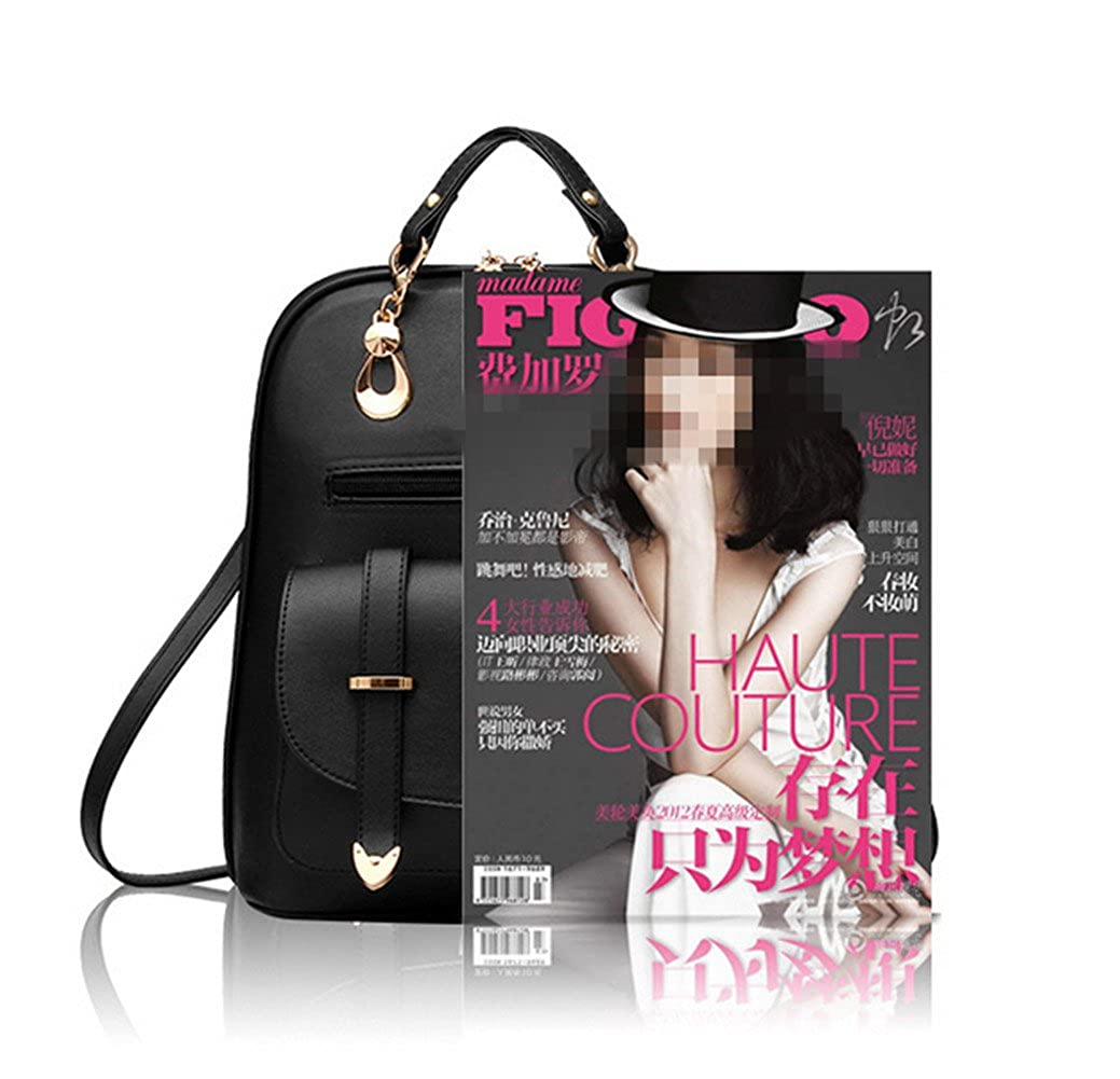 27f780f79f16f Hynbase Women's Summer Cute Korean Leather Student Bag Backpack Shoulder  Bag Black: Amazon.ca: Shoes & Handbags