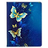 iPad 2 / 3 / 4 Case, Beimu Kickstand Feature [Tire Series] Rugged Shock Absorbent Three Layer Hard Rubber Protective Case Cover with Stylus for Apple iPad 2nd / 3rd / 4th Generation Blue butterfly