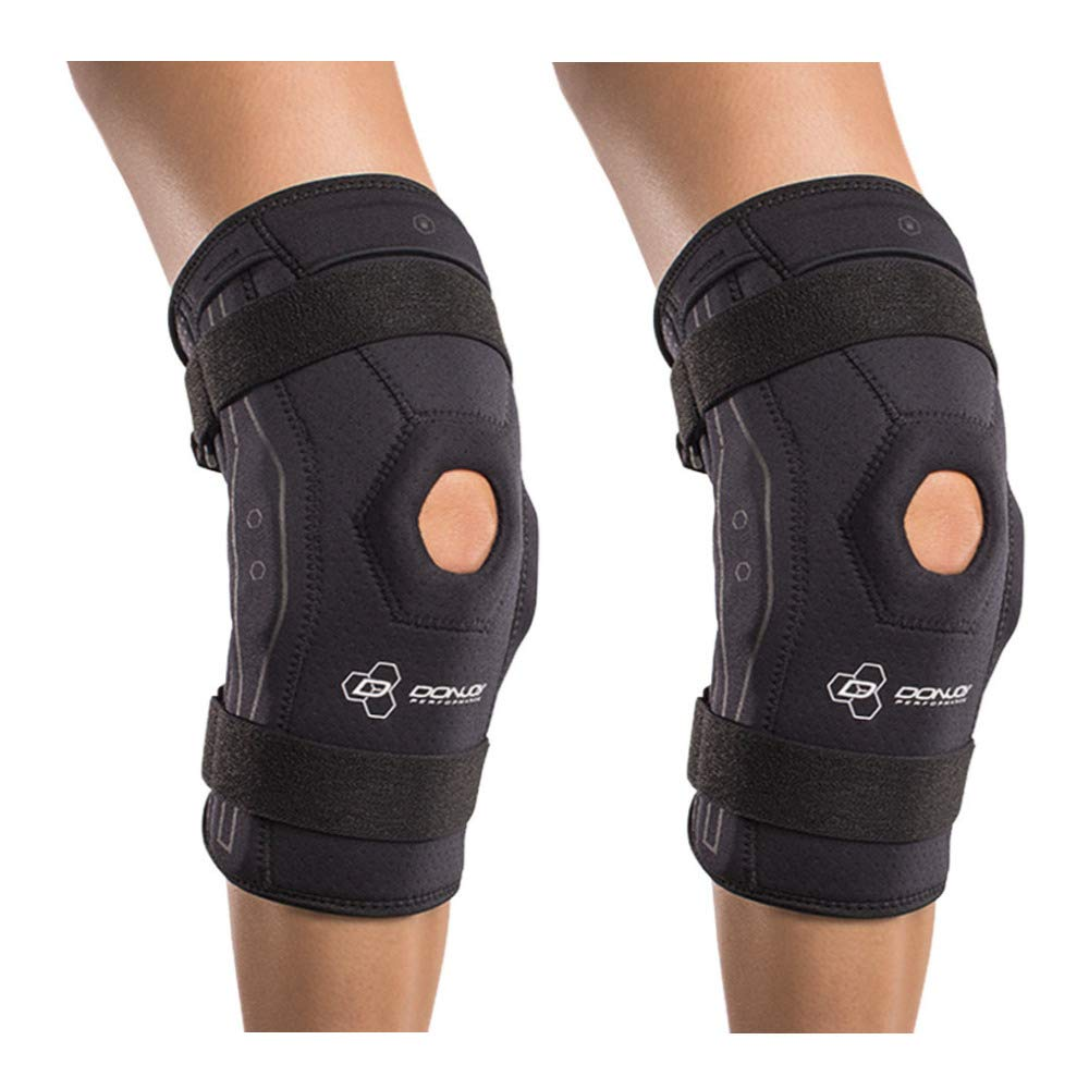5a463eaab4 DonJoy Performance Bionic Knee Brace – Hinged (Black/Large - 2 Pack)  Adjustable Patella Support, Lateral/Medial Ligament (ACL, MCL, LCL),  Meniscus, Knee ...