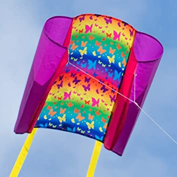 Beach Kite BUTTERFLY incl kite line and kite tails CIM Single line kites for children from 6 years onwards 29x18.5 inch