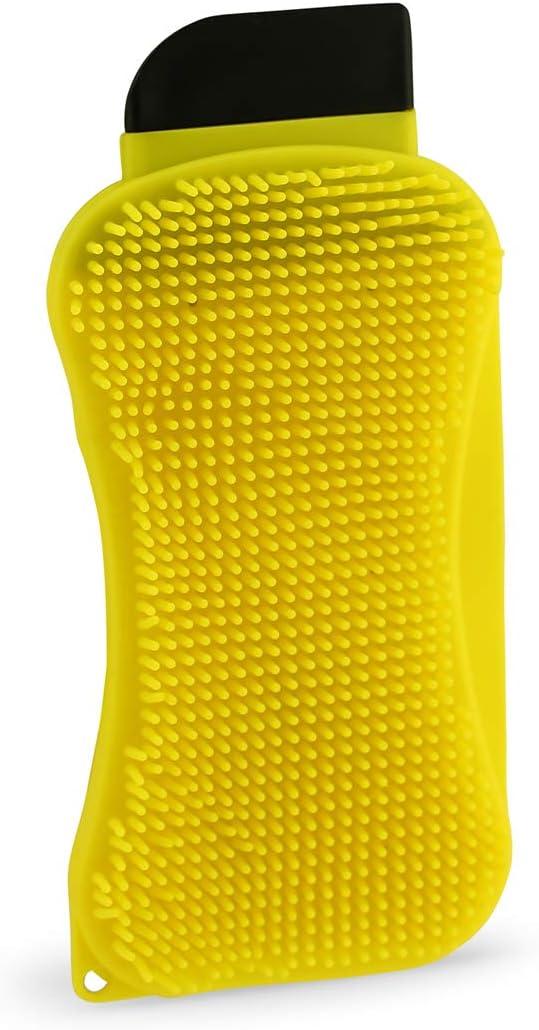 scraper and squeegee Silicone Super Sponge 3-in-1 sponge that combines sponge