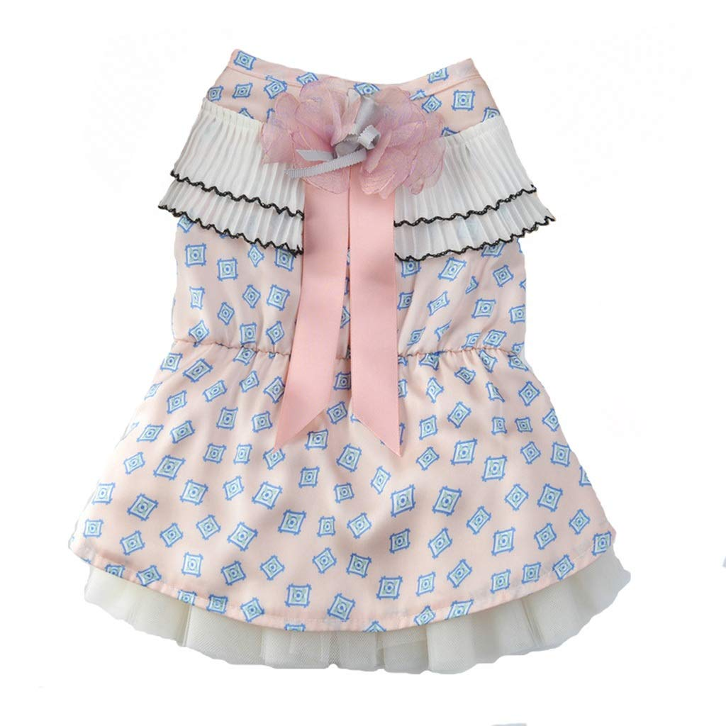 HXBLB Puppy Dog   Skirt Princess Fluffy Summer Teddy pet Clothes Spring Small Dog Thin Wedding cat (Color : A, Size : M)