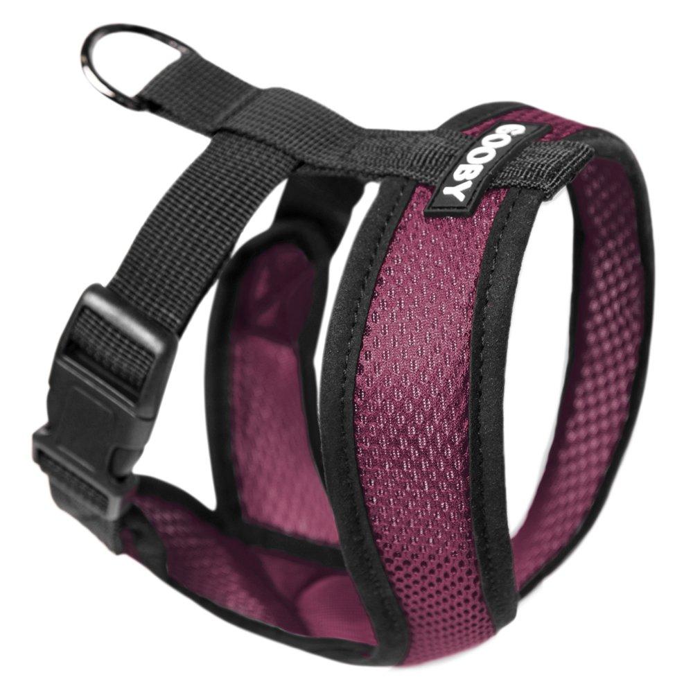 Purple SmallGooby Gooby Choke Free Comfort Soft Dog Harness, Black, XLarge